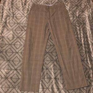 Men's Banana Republic Light Brown Plaid Pants
